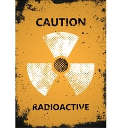 Radioactive poster caution radioactive poster vector