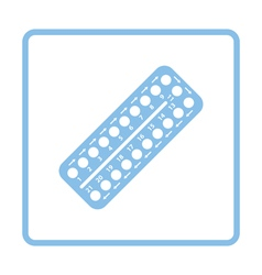Contraceptive pill pack icon vector