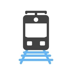 Train tracks vector