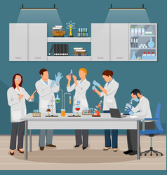 Science and laboratory vector