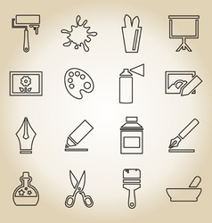 Art outline icon vector