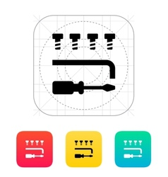 Drone repair kit icon vector