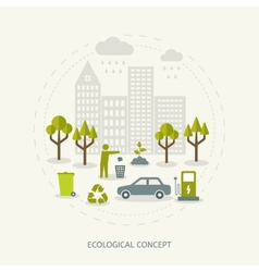 Ecologic concept in flat style vector