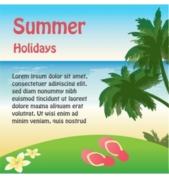 Summer holiday web and print template - tropical vector