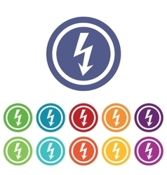 Voltage signs colored set vector