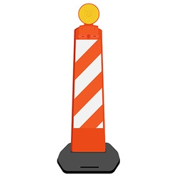 Road barrier vector