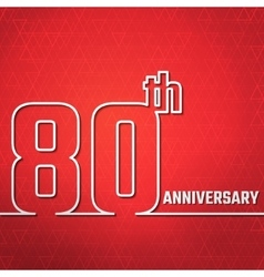 Anniversary outline bg vector
