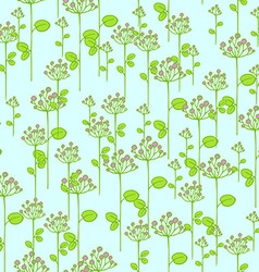 Seamless texture with floral branches vector