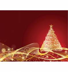 golden Christmas vector image