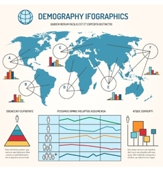 Demographic infographics template vector