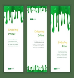 Set banners with clorful seamless dripping pain vector