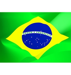 Abstract brazil flag in the wind vector