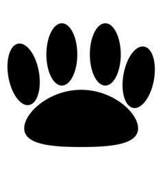 animal trail black color icon vector image vector image