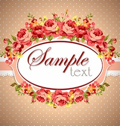 Beautiful floral Greeting card vector image vector image