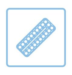Contraceptive pill pack icon vector
