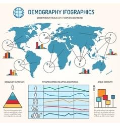 Demographic infographics template vector