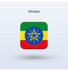 Ethiopia flag icon vector