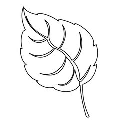 figure leaf contrast icon vector image vector image