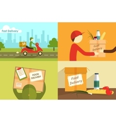 Food delivering vector
