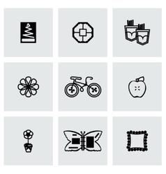 Handmade icon set vector image