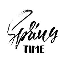 handwritten spring design spring time hand drawn vector image