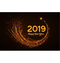 Happy New Year 2019 vector image vector image