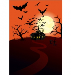 Hunted house vector