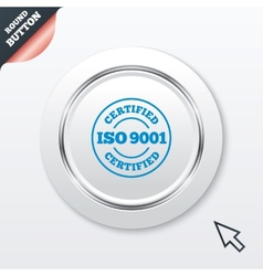 Iso 9001 certified sign certification stamp vector