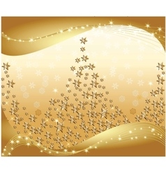 Magic golden sparkles background vector image vector image