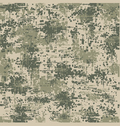 military army uniform pixel seamless pattern vector image vector image