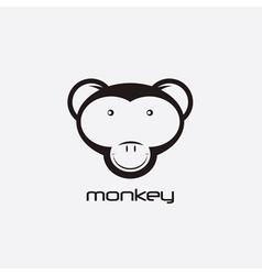 monkey design template vector image