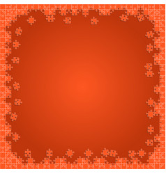 Orange transparent puzzles pieces - jigsaw vector