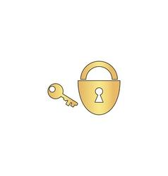 Padlock and key computer symbol vector