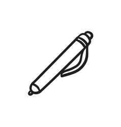 Pen sketch icon vector