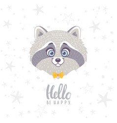 raccoon cute vector image
