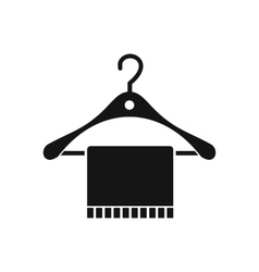 Scarf on coat hanger icon simple style vector