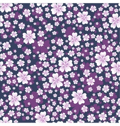 Seamless floral pattern with white colored flowers vector image vector image