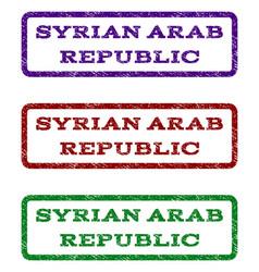 syrian arab republic watermark stamp vector image vector image