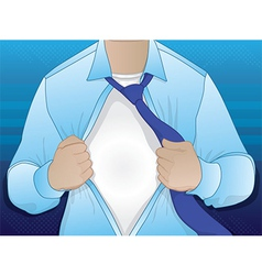 Business man opening shirt vector
