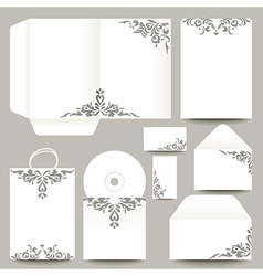 Stationery with patterns vector