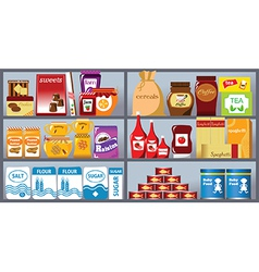 Collection of supermarket items vector image