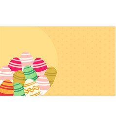 Easter egg flat greeting card vector
