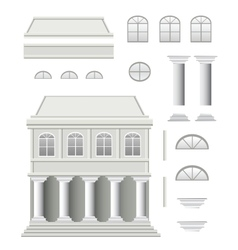 Antique house vector