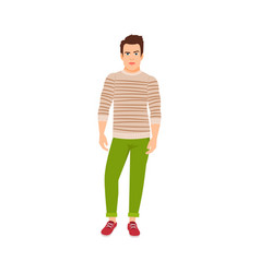 Man dressed in autumn style vector