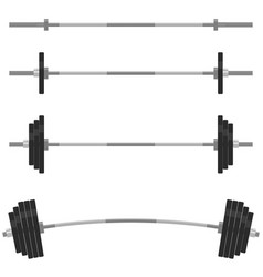 Fitness design elements gym emblem barbells vector