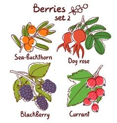 Berries set 2 vector image