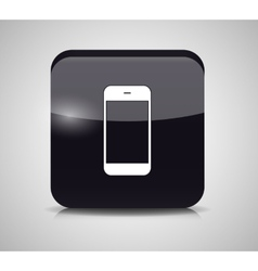 Glass phone button vector