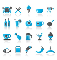 Food drink and restaurant icons vector