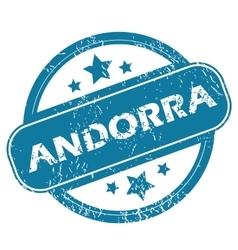 Andorra round stamp vector