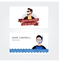 Modern creative and clean business card vector